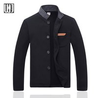 Wholesale Outdoor Decorating - Fall-2016 Man Jacket Sping & Autumn High Quality Plus Size 4XL Pocket Decorated Casual Outdoors Fashion Solid Mens Jackets And Coats