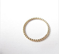Wholesale Wholesale Stacking Rings - Slim stacking ring beaded gold ring, gold ring with thin 18 k gold ring beads lady is the best gift