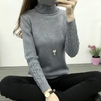 Wholesale Thin Crochet - 2017 Women Turtleneck Winter Sweater Women 2017 Long Sleeve Knitted Women Cashmere Casual Pullovers Female Jumper Tricot Tops
