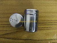 mehrgewürzbehälter großhandel-50pcs / lot geben Verschiffen-Hauptküche liefert multi Lochedelstahlgewürzglasbehältergewürzdose-Speicherflasche frei