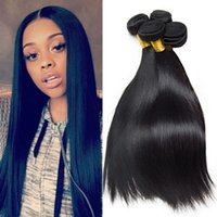 4 Bundles Brazilian Straight Weave Remy Cabelo Humano Weave Malaio Indiano Peruviano 7a Virgin Hair Natural Black Real Human Hair Extensions