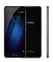 cdma wifi gps 3g großhandel-Meizu U20 Doppel-SIM 16gb Android Smartphone Mobile 4g Lte 3g CDMA Unlocked Black Eight Nuclear Fingerprint 5 Zoll Silber Hot Screen Material