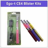 комплект испарителя ce5 оптовых-Комплект блистерной упаковки CE4 eGo-T - комплект электронных сигарет Испаритель CE4 650 900 Аккумуляторы Ego-T Ecig подходят для стартовых комплектов ce5 ce6