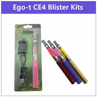 Wholesale Electronic Cigarette Kits Pack - CE4 eGo-T blister pack kit - electronic cigarettes kit CE4 vaporizer 650 900 1100mah ego-t ecig batteries fit ce5 ce6 starter kits