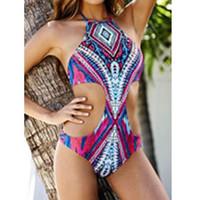 Wholesale Colorful Monokini - colorful Women Sexy Strappy Swimsuit Swimwear Bathing Monokini Push Up Padded Bikini