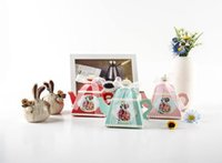 Wholesale Tea Box Sale - 2017 hot sale Free Shipping favor boxes for wedding and tea party teapot style paper pink red favor holders
