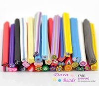 "Wholesale Decoration Per Nail Art - Mixed Polymer Clay Nail Art Canes Decoration 5x0.5cm(2""x1 4""), sold per packet of 100 (B16232)"