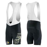 siyah siklon şortları toptan satış-Tour de France 3D Yastıklı Coolmax Jel Nefes Bisiklet Önlüğü Pantolon / Siyah Çabuk Kuru Dağ Sürme Bisiklet Yarışı bisiklet Önlüğü Şort