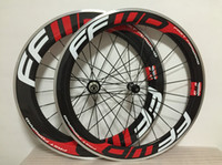 Wholesale 88mm Wheels - ffwd 60mm+ 88mm alloy brake clincher carbon wheelset glossy road wheels 700c full carbon bicycle wheels