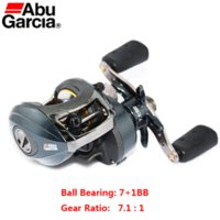 Wholesale Abu Garcia Fishing Reel Left - 100% original Abu Garcia Brand 7+1BB PMAX2-L Left Hand Linear Magnetic Brake BaitCasting Reel Trolling Reel 7.1:1 Carp Fish Gear