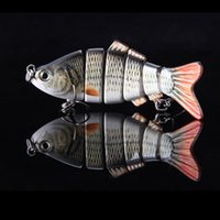 Wholesale Treble Jointed Lure - Super Quality 10cm 20g Lifelike 6 Jointed Sections Swimbait Fishing Lure Crankbait Hard Bait Fish Treble Hook Fishing Tackle