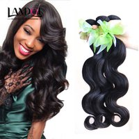 Wholesale 6a ombre hair weave for sale - Malaysian Body Wave Virgin Hair Weaves Bundles Unprocessed A Indian Cambodian Peruvian Brazilian Human Hair Natural Black Extensions