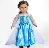 "Wholesale Snowflake Skirts - New sale Doll Clothes fits 18"" American Girl Handmade Party Elsa Princess Set snowflake skirt"