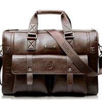 Wholesale Vintage Leather Briefcase Laptop - 2016 Hot Men's Dermis Real Leather handbags Vintage 15 inch Genuine leather briefcase laptop Shoulder bags Causal Crossbody bags