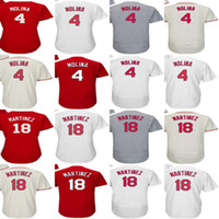 Wholesale Molina Baseball - 2017 Mens Womens Youth Toddler St. Louis 4 Yadier Molina 18 Carlos Martinez Ivory Grey White Red Cheap Cool Flex Base Baseball Jerseys
