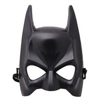 atacado 20pcs Halloween Meia cara Batman Black Mask Masquerade vestir máscaras do partido Cosplay máscara Suprimentos Costume