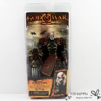 Wholesale Kratos Ares Armor Figure - High Quality 3PCS Lot NECA God of War 2 II Kratos in Ares Armor W Blades 20cm PVC Action Figure Toy Doll Chritmas Gift