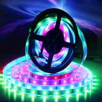 Wholesale power led rgb chip resale online - 5M Waterproof Dream Color RGB IC Chip LED Strip RF Controller Power Supply LED m Digital RGB Strip Light IC tape