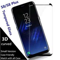 perdeler toptan satış-Kılıf Dostu Aşağı Ölçekli 3D Kavisli Filmi Temperli Cam Samsung Galaxy S10 ARTı S10e S8 Artı NOTE8 note9 S9 ARTı Ekran Koruyucu