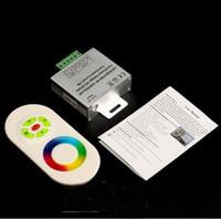 rgb a mené le contrôleur de lumière de corde achat en gros de-18A RF Contrôleur LED Contrôleur RGB 12V 24V avec écran tactile Controle à distance pour SMD 5050 5630 3528 LED RGB LED Ruban Ruban CE ROSH
