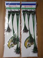 spinnerführer großhandel-Freies Verschiffen 72 stücke Grün Edelstahl Fischköder Linie Spur Leader Wire Swivel Tackle Spinner Shark Spinning 15/21/30 cm