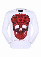Wholesale Mens Argyle Sweater Xl - 2017 Autumnal Long Sleeve Shirts Mens Polo Shirt Cotton Sweater Large Skulls & Diamonds Tee Shirt winter Boys Sports Coats 18108
