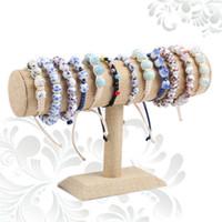 Wholesale linen necklace displays - Bracelet Display Holder Bracelet Organizer Model Rack Jewelry Display Shelf Necklace Storage Linen 14 CM Bracelet Holder