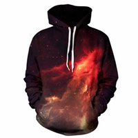 Wholesale Galaxy Print Hoodie Womens - wholesale galaxy hoodies mens pullover 3d print popular hoodies mens fashion hoodie womens sweatshirts loose big size 3xl size hoodie