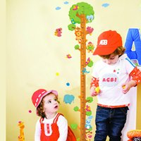 Kids Child Hauteur Chart Measure Tape Stickers muraux Animal naturel Tree Vinyl Wallpaper Décorations décoratives décapables
