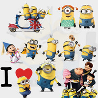 Wholesale Despicable Dhl - H2016 New Despicable Me 2 Minion Movie Decal Removable Wall Sticker 45*60cm Home Decor Art Cute Kids Nursery Loving Gift home Decoration DHL