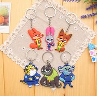 Wholesale Wholesale Personalized Keychains - Fashion Cartoon keychains Silicone Pendant Rings Purse Bag Charms Halloween Keyrings Hot Novelty Key Chains Personalized Gifts Y103