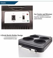 mini taşınabilir buzdolapları toptan satış-Yüksek Kaliteli HUANJIE Taşınabilir Elektronik 12 V 6L 48 W Oto Araba Mini Buzdolabı Seyahat Buzdolabı ABS Çok Fonksiyonlu Ev Soğutucu Dondurucu Isıtıcı