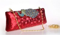 cashmere bouquet - Bling Diamond Peacock Evening Clutch Bags Top Selling PU Day Clutches Color Print Dot Clutch Handbag for Party Bouquet K