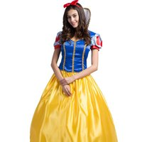 Wholesale Snow Women Xxl - 2016 Cosplay Snow White Dress Apparel Fantasia The Fairy Tale Role Halloween Costumes Dancing Party Princess Clothing Including Accessories