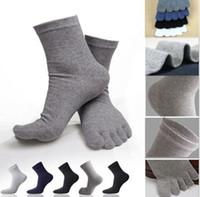 ayak bileği ayakkabıları erkekler için toptan satış-Toptan-2016 1 Çift Erkekler Kadınlar Low Cut Ayak Bileği Çorap Spor Beş 5 Parmak 5 Renk Pamuk çorap Ayak Ayakkabı Kadın Casual Çorap İçin İdeal