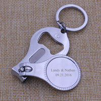 Wholesale Silver Boxes For Wedding Favors - 100Pcs Personalized Wedding Souvenirs For Guests Customized Wedding Favors Multifunctional Wine Opener Keychain Nail Clippers With Gift Box