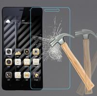 gionee displayschutzfolie großhandel-Erstklassiger ausgeglichenes Glas-Schirm-Schutz für gehärteten Schutzfilm Gionee GN5002 GN5003 GN5005 mit Kleinpaket