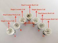 spule trocken g großhandel-Dual Wax Coil Keramik Wachs Spule für Wachs trocken Herb Vaporizer Glas Globe Atomizer fit 510 Batterie