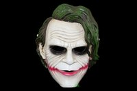 Wholesale Dark Batman Film - Halloween Batman Joker Resin Mask The Dark Knight Anime Film Party Cospaly Full Face High Grade Masks 100% Brand New Masquerade Party