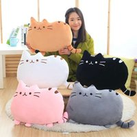 Wholesale Girl Skins - 7 colors 40*30cm plush toy stuffed animal doll, anime toy pusheen cat pusheen skin girl kid kawaii,cute cushion brinquedos Kids