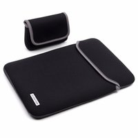 neopren macbook ärmel großhandel-LENTION wasserabweisende Neopren-Laptop-Hülle für 11 12 13 15-Zoll MacBook Pro MacBook Air Notebook mit Netzteil