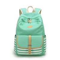 Wholesale Backpacks For Teens - Women Backpacks For Teenage Teen Girls Canvas Backpack Female Striped Feminine Backpack School Bagpack Girl Mochila Feminina Bag