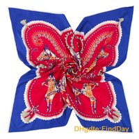 Wholesale Heavy Horses - The new royal carriage horse lady pattern heavy silk twill square scarf scarf 100cm*100cm
