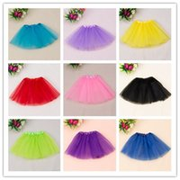 Wholesale Dance Petti Skirt - 2016 Girl Tutu Skirt Princess Dance Party Tulle Skirt fluffy chiffon skirt girls Ballet dance wear Party costume petti skrit fashion