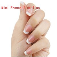 Wholesale Fiberglass Siding - Mini French Side Tips 100Pcs Box For Manicure For Salon Tips French Manicure Prpfessional