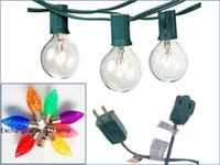 Wholesale Christmas String Lights Ft Clear Globe Bulb G40 String Light Set with G40 Bulbs Included Patio Lights Patio String Lights C7 Bulb Str