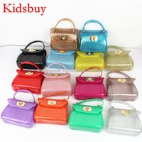 Wholesale girls pink purse for kids - Kidsbuy Children's Fashion Handbags Brand PVC totes for Baby Girls Lovely stylish shoulder bags for Preschool girls kids mini purses KB042