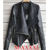 Wholesale Woman Cheap Pu Leather Jacket - 2016 Autumn Winter Coats Jackets Fashion Women Coat Punk Street Casual PU Leather Zipper Short Jackets Black Coats Cheap Clothing Outwear