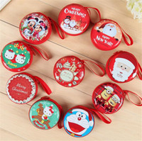 Wholesale Decoration Purses - Christmas Bag Coin Purse Earphone Box Cute Wedding Gift Package Coin Purses Christmas Gift Wallet for Women and Kids