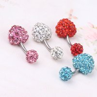 Bijoux Body Multi Cristal HEART Ferido SHAMBALLA Navel Belly Bar 10mm Nombril Anneau Piercing Nombril